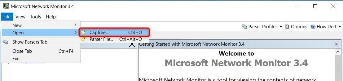 Network Monitor etlファイルを開く