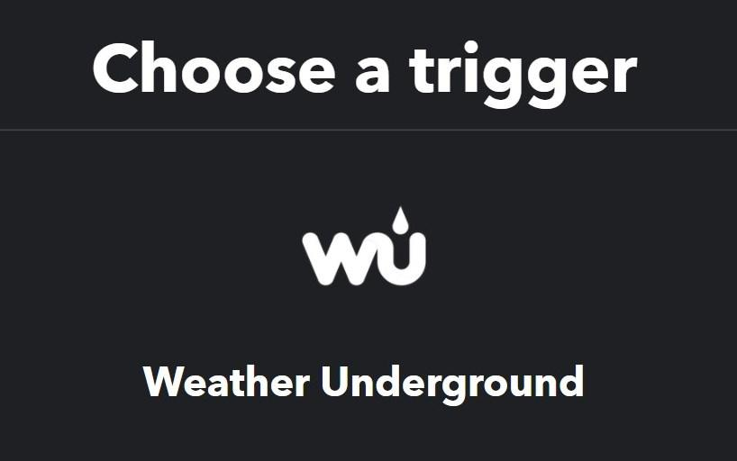 IFTTT Weather Underground レシピ作成